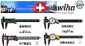 德国Wiha威汉150mm玻璃纤维游标卡尺(带深度测量)